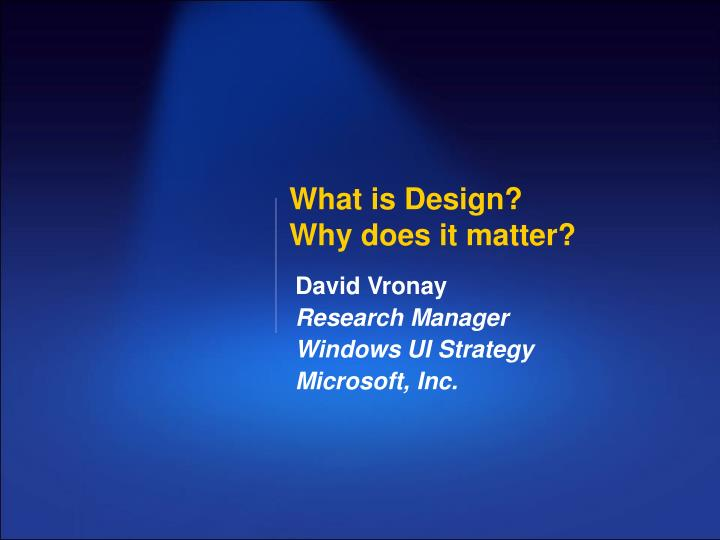 what is design why does it matter