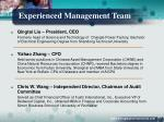 experienced management team