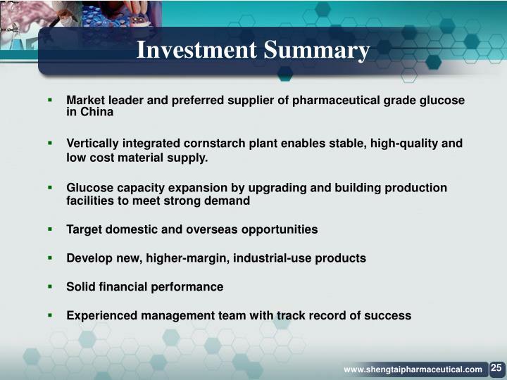 Investment Summary