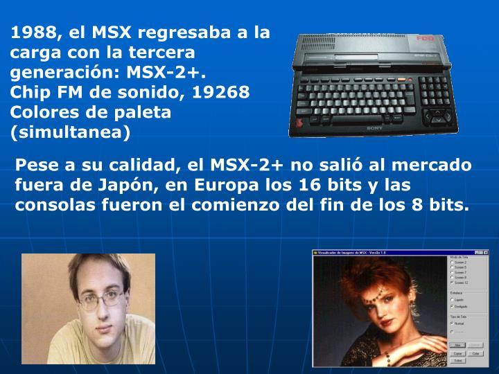 1988, el MSX regresaba a la