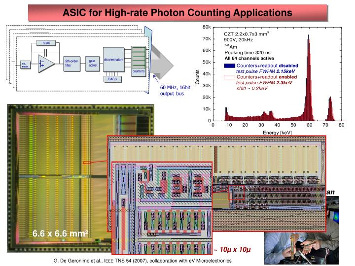 ASIC for High-rate Photon Counting Applications