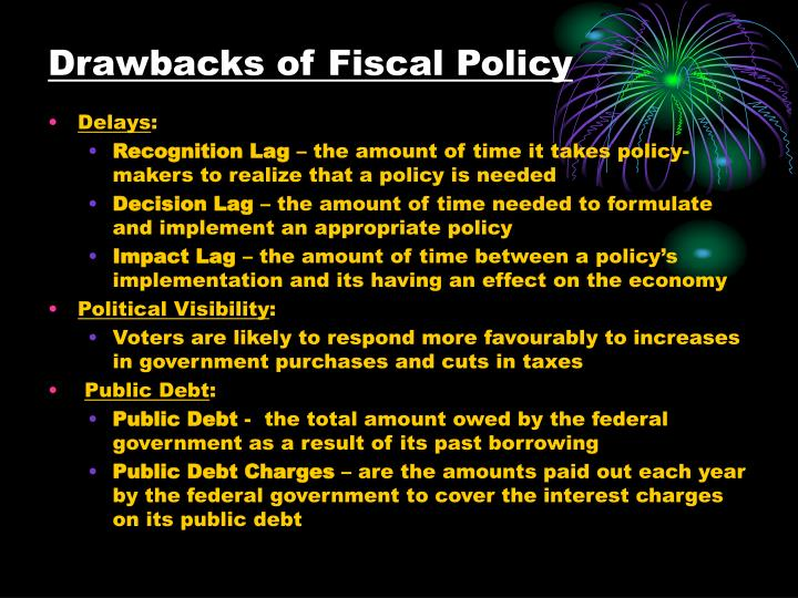 Drawbacks of Fiscal Policy
