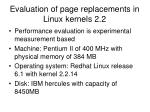 evaluation of page replacements in linux kernels 2 2