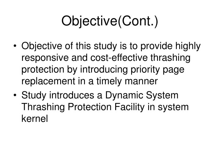 Objective(Cont.)