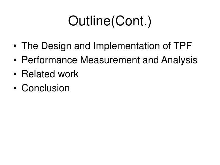 Outline(Cont.)
