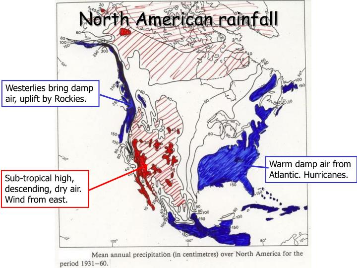 North American rainfall