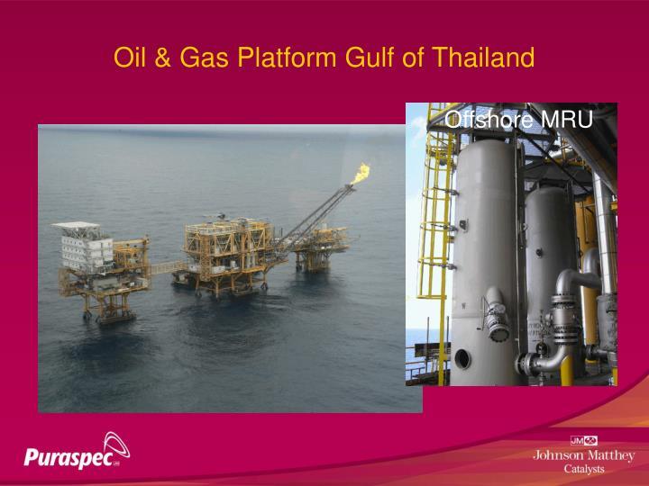 Oil & Gas Platform Gulf of Thailand
