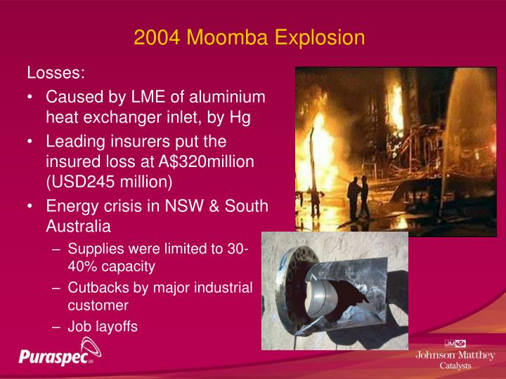 2004 Moomba Explosion