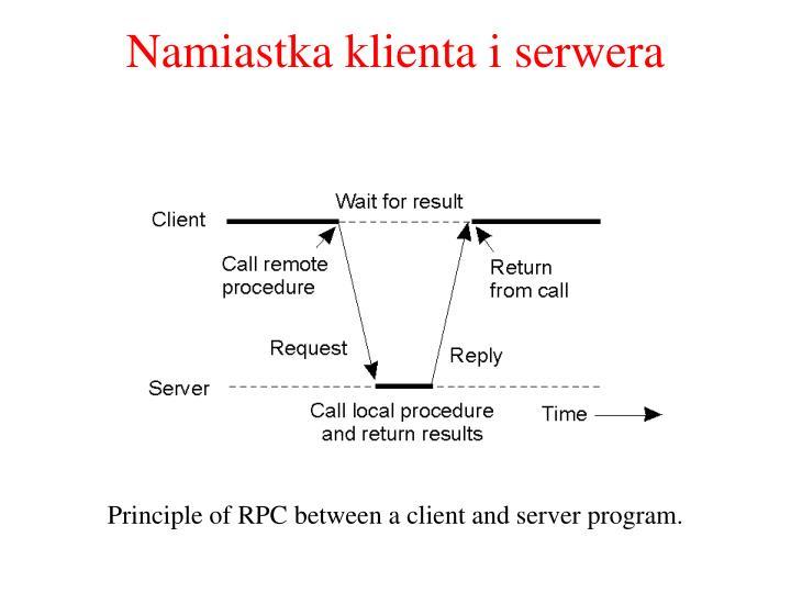 Namiastka klienta i serwera