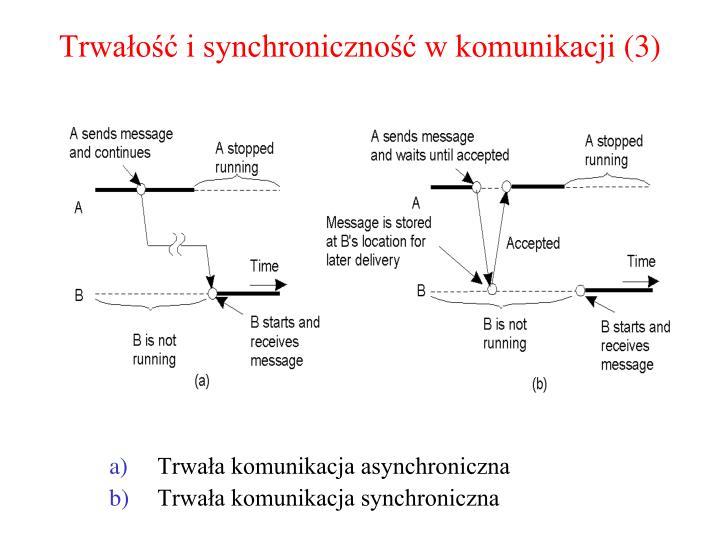 Trwałość i synchroniczność w komunikacji