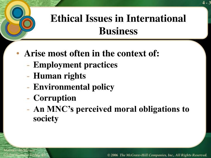 Ethical issues in international business1