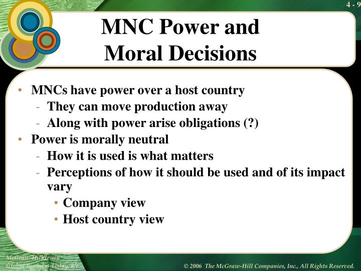 MNCs have power over a host country