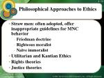 philosophical approaches to ethics