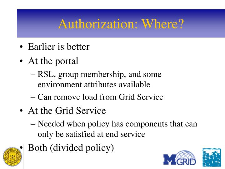 Authorization: Where?