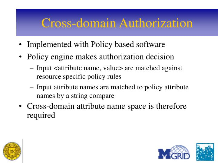 Cross-domain Authorization