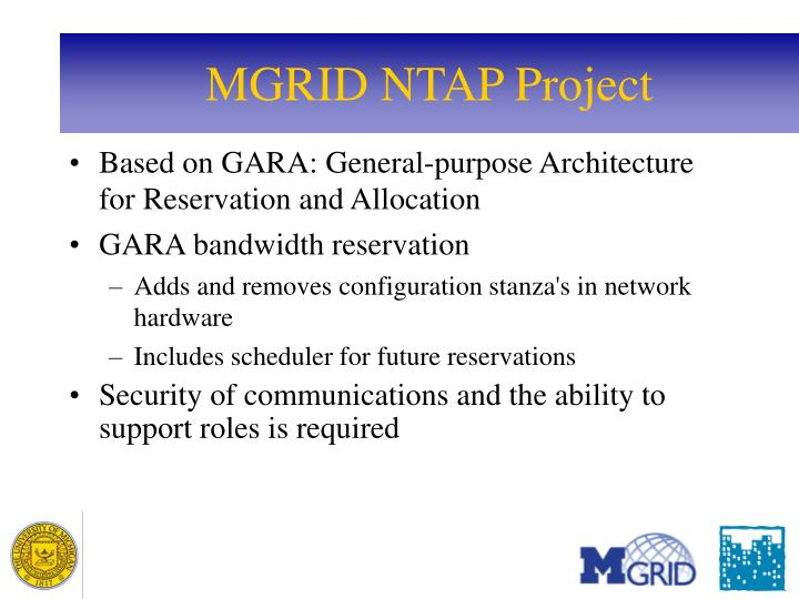 MGRID NTAP Project