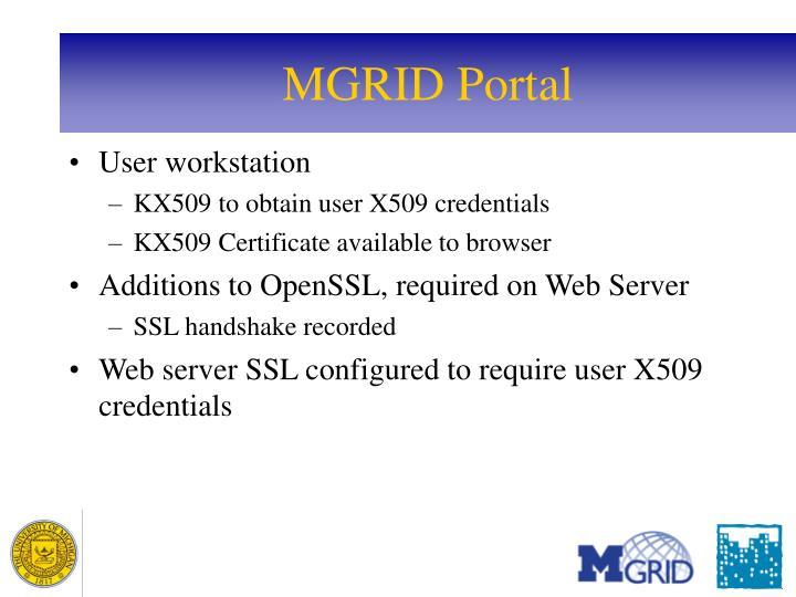 MGRID Portal