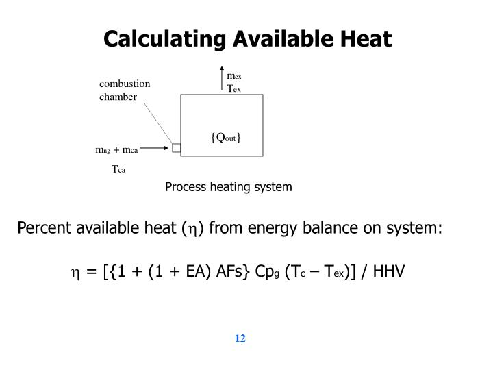 Calculating Available Heat
