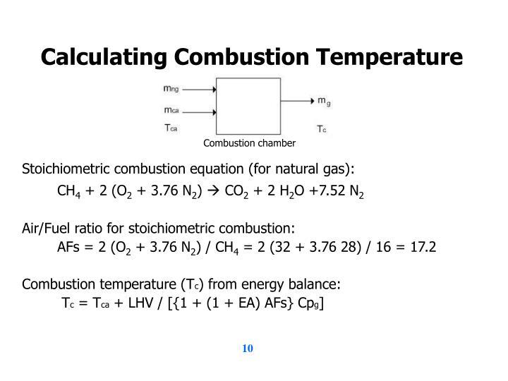 Calculating Combustion Temperature