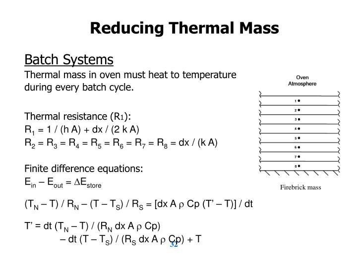 Reducing Thermal Mass