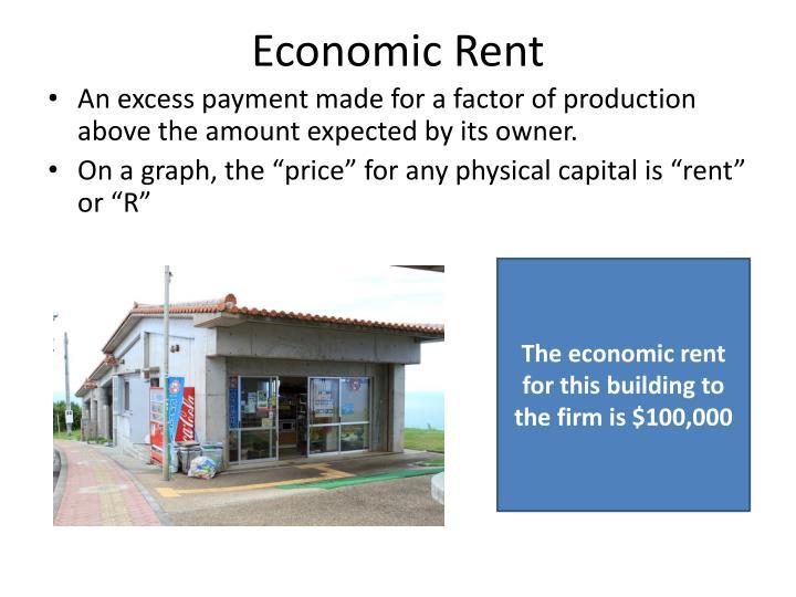 Economic Rent