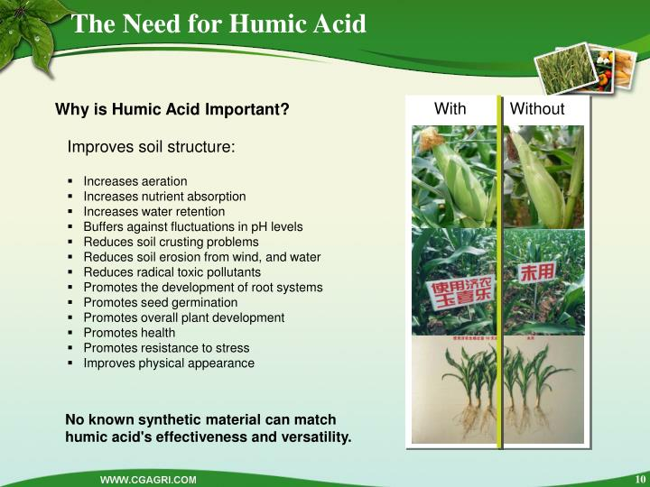 The Need for Humic Acid