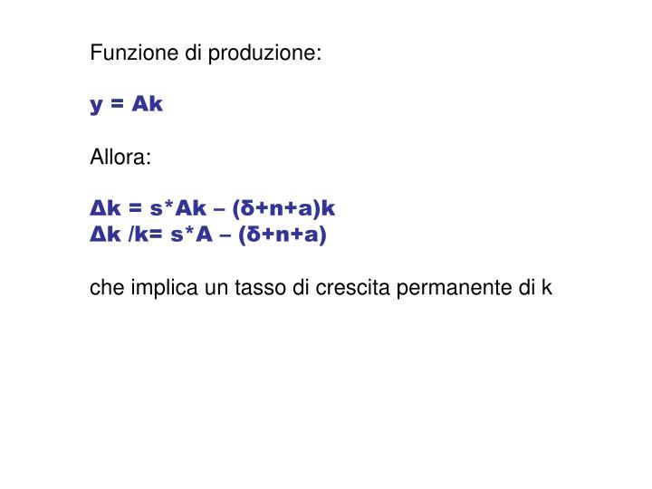 Funzione di produzione: