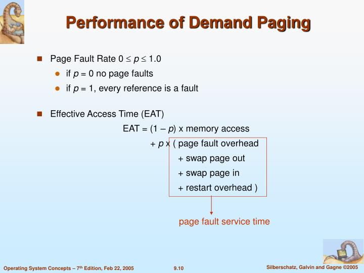 page fault service time