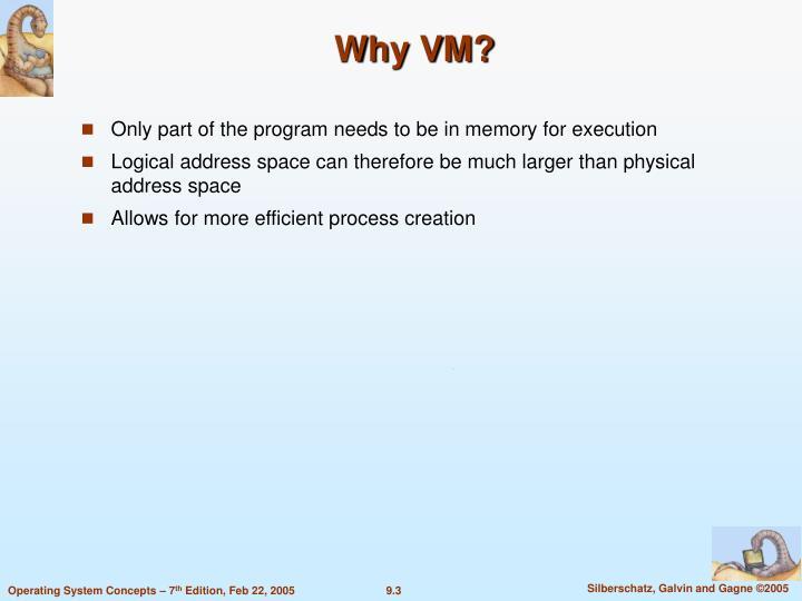 Why VM?