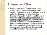 1 instructional time
