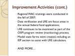 improvement activities cont