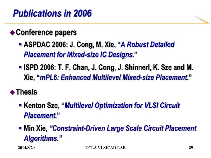 Publications in 2006