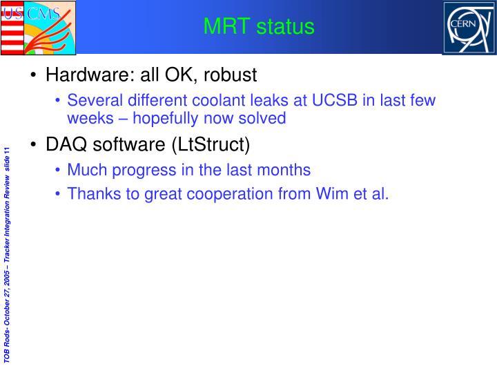 MRT status