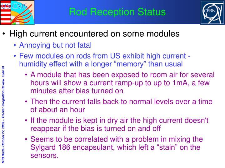 Rod Reception Status