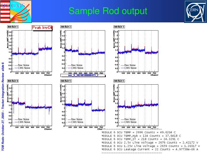 Sample Rod output