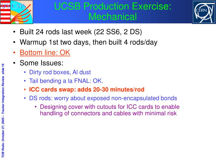 UCSB Production Exercise: Mechanical