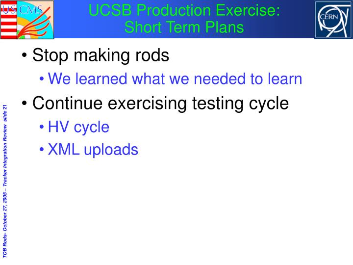 UCSB Production Exercise: