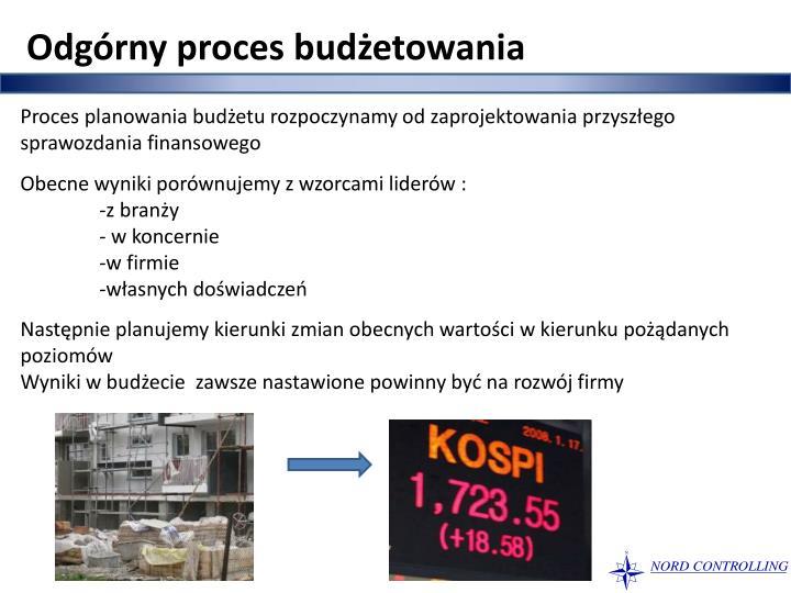 Odgórny proces budżetowania