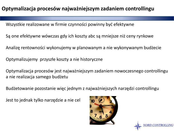Optymalizacja procesów najważniejszym zadaniem controllingu