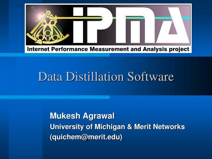 Data Distillation Software