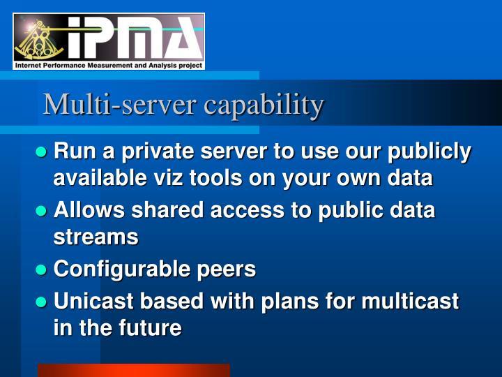 Multi-server capability