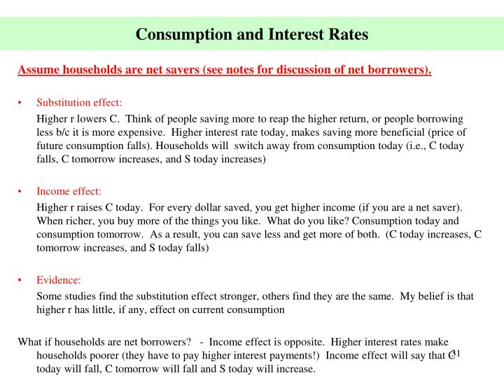 Consumption and Interest Rates