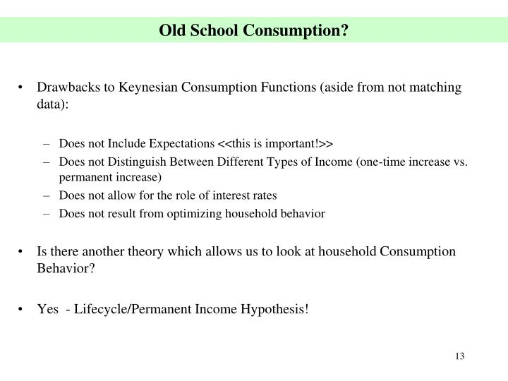 Old School Consumption?