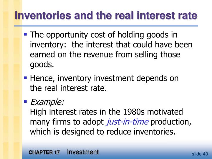 Inventories and the real interest rate