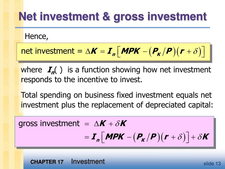 Net investment & gross investment