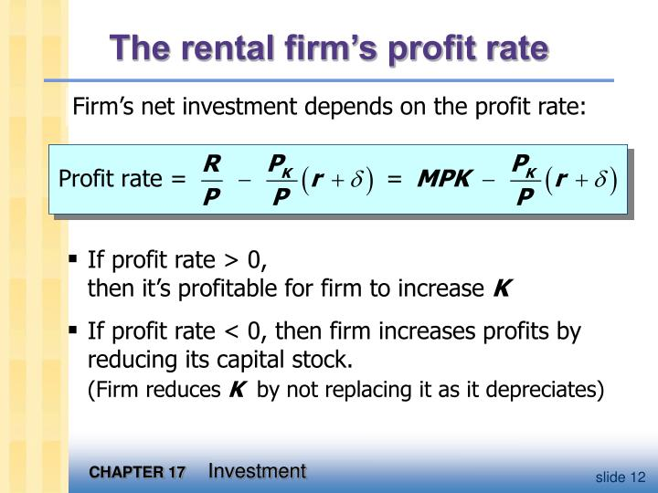 The rental firm's profit rate