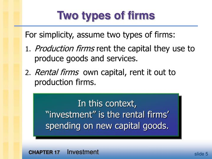 Two types of firms