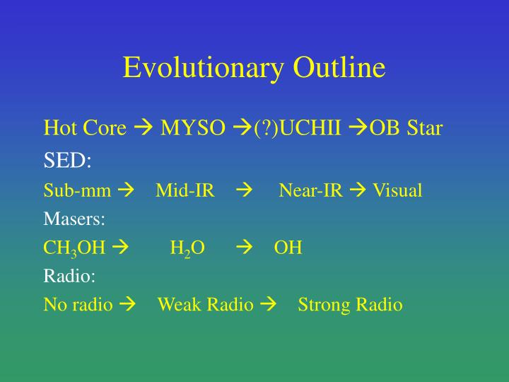 Evolutionary outline