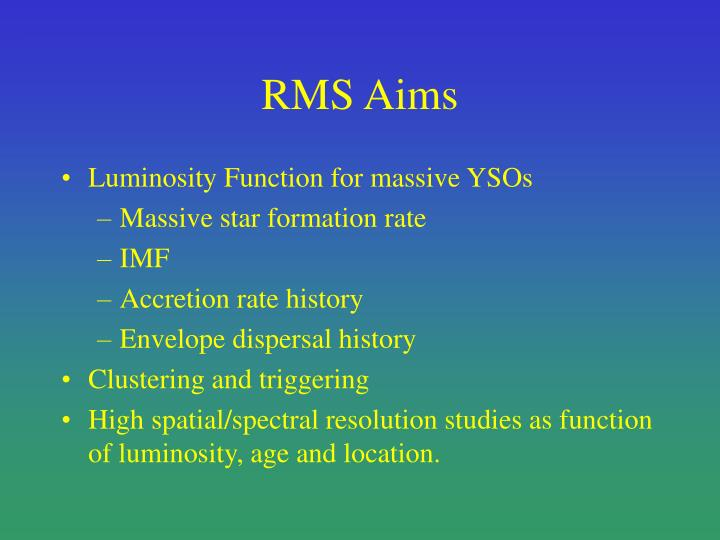 RMS Aims