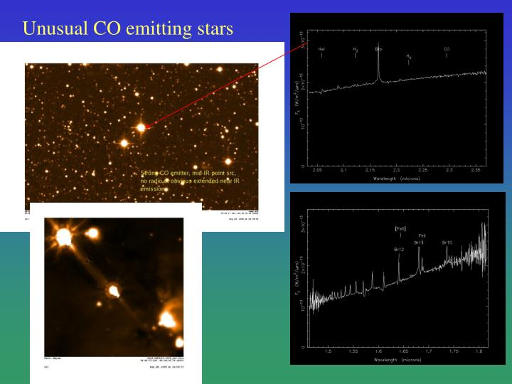 Unusual CO emitting stars
